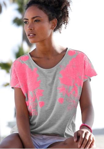 Bench. T-Shirt, mit Neonprint kaufen
