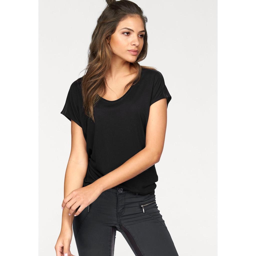 AJC Oversize-Shirt, mit Schulterdetail in Lederoptik