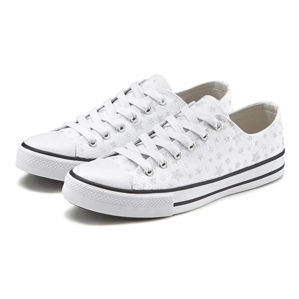LASCANA Sneaker, aus Textil mit Sternenprint