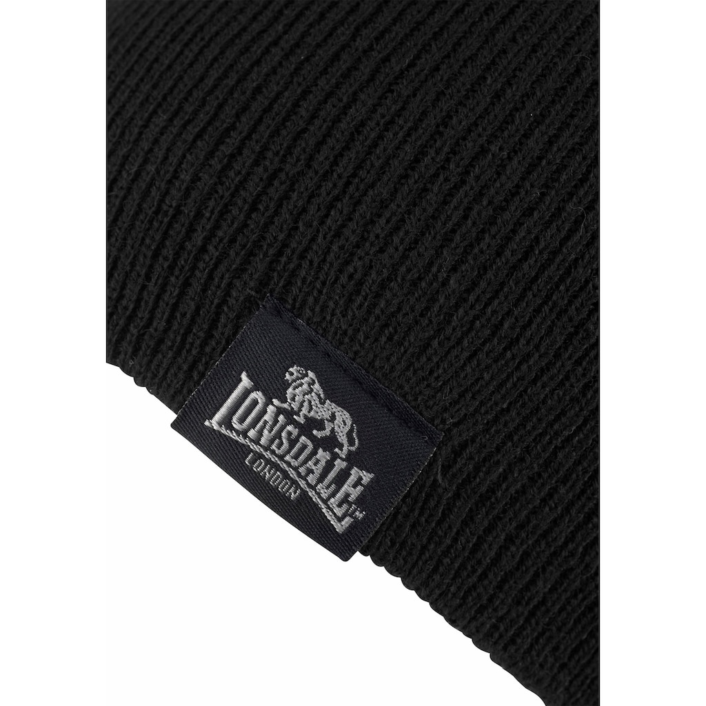 Lonsdale Strickmütze »LEAFIELD«, Set aus Schal undMütze