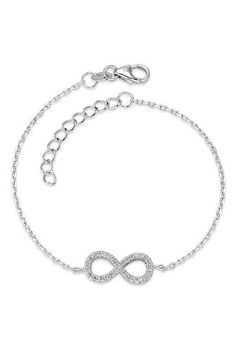 Armband Silberfarben Zirkonia rhodiniert Infinity 16 - 18.5 cm verstellbar kaufen