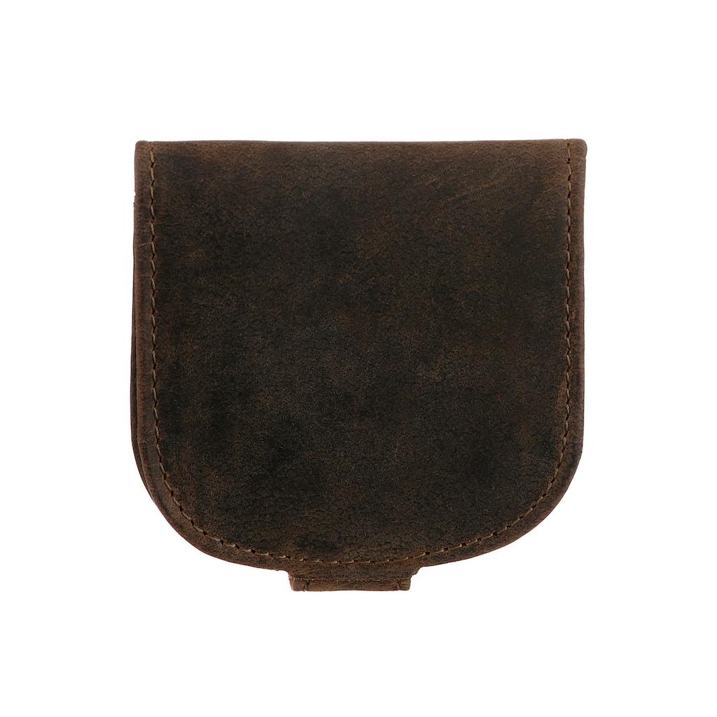GreenLand Nature Geldbörse »Stone«, aus echtem Leder, im kleinen Format