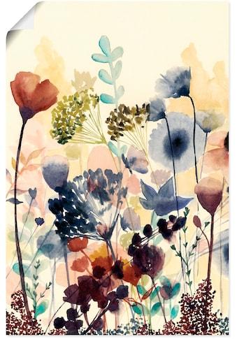 Artland Wandbild »Sonnengetrocknete Blüten I«, Blumenwiese, (1 St.), in vielen Grössen... kaufen