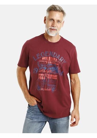 Jan Vanderstorm T-Shirt »FRIDHELM«, Druck mit Neonfarben kaufen