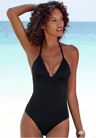 LASCANA Badeanzug »Scallop«, mit gelaserter Wellenkante kaufen