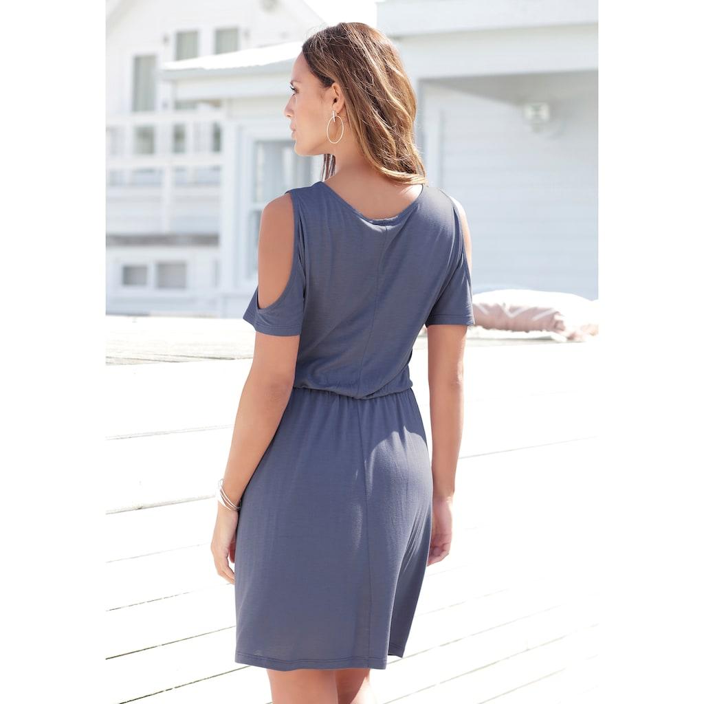 LASCANA Jerseykleid, mit Cut-outs am Ärmel