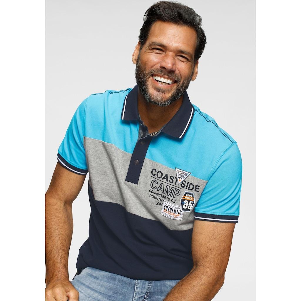 Man's World Poloshirt, Blockstreifen