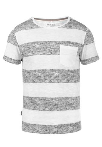 Blend Rundhalsshirt »Vegas«, Kurzarmshirt mit Brusttasche kaufen