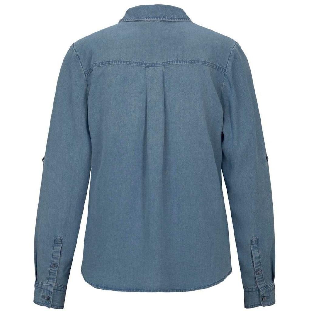 TOM TAILOR Jeansbluse, mit aufgesetzten Brusttaschen