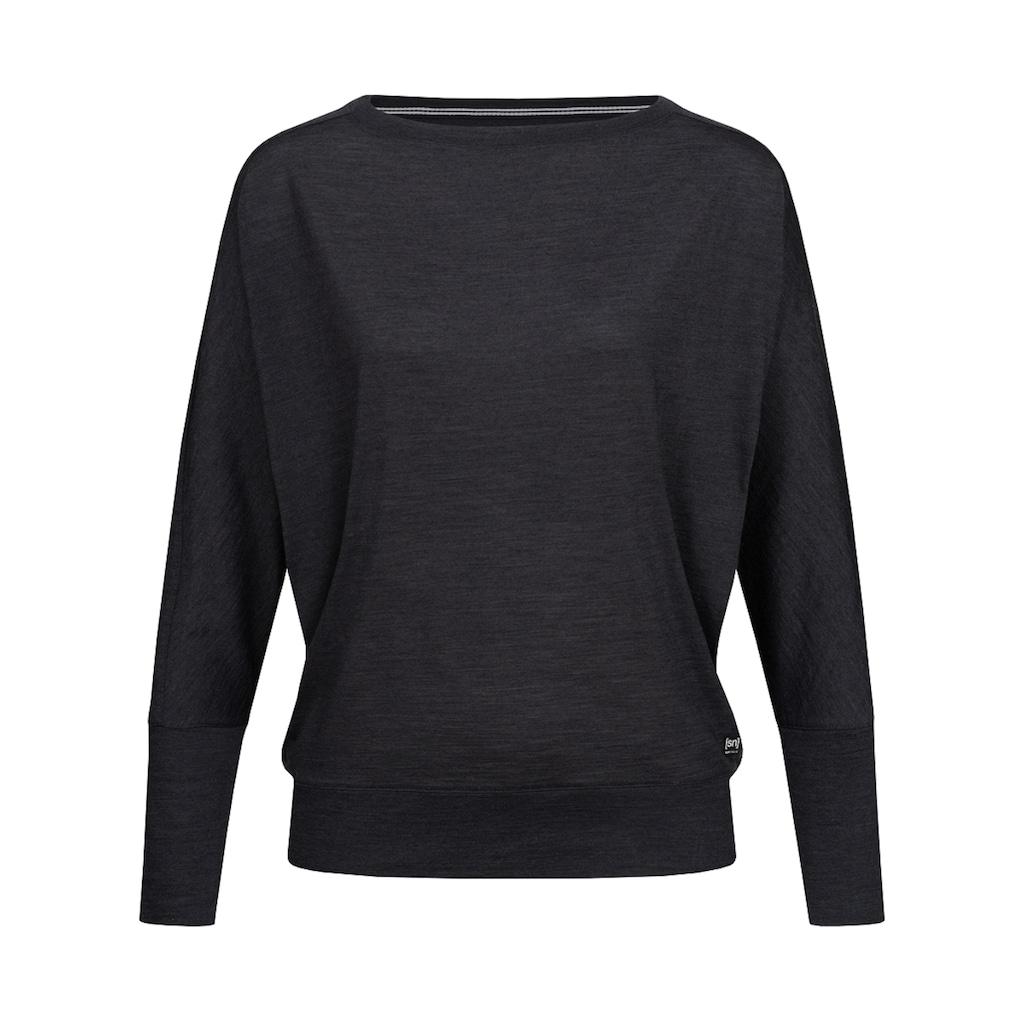 SUPER.NATURAL Fledermausshirt »W KULA TOP«, bequemer Merino-Materialmix