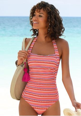 LASCANA Badeanzug, mit glitzernden Streifen kaufen