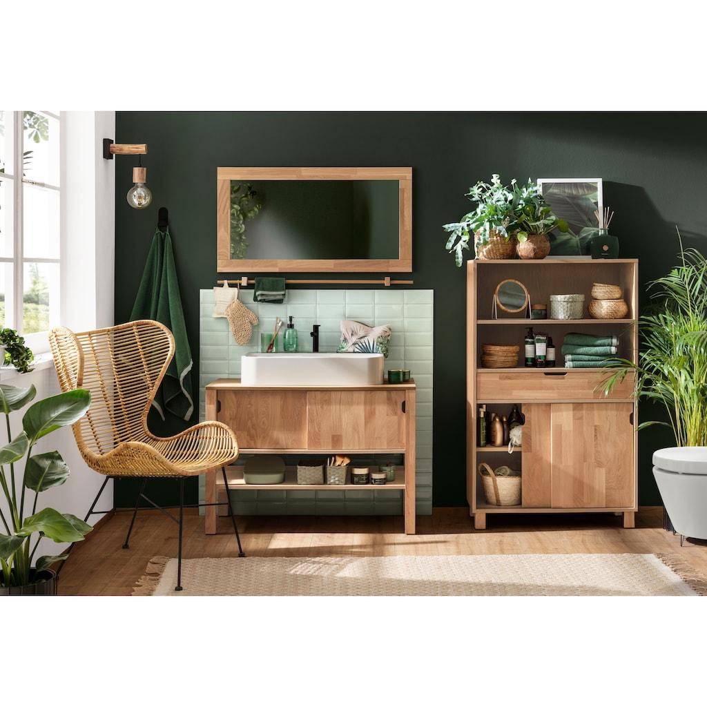 Home affaire Waschbeckenunterschrank »April«, Schiebetüren aus Massivholz, Breite 100 cm