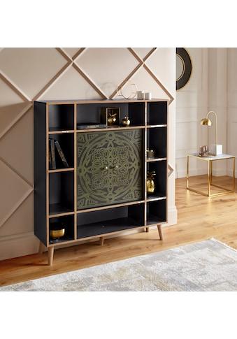 """Leonique Highboard »Clivia«, Highboard """"Clivia"""", mit dekorativem Print auf den Türen,... kaufen"""