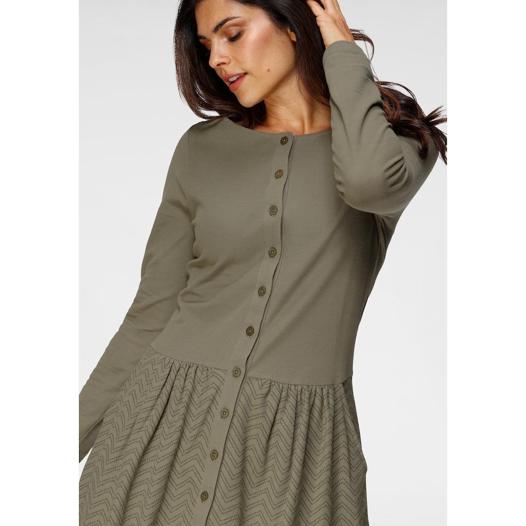 Boysen's Jerseykleid, aus bedrucktem Piquee Stoff