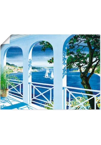 Artland Wandbild »Ansicht mit Tulpen«, Fensterblick, (1 St.), in vielen Grössen &... kaufen