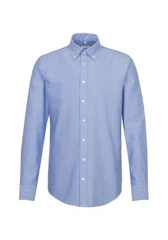 seidensticker Businesshemd »Shaped«, Shaped Langarm Button-Down-Kragen Uni kaufen