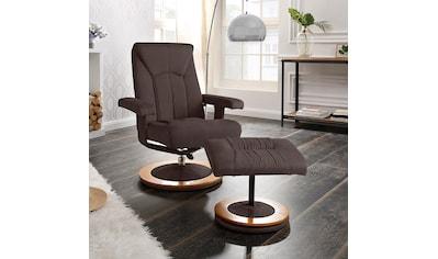 DELAVITA Relaxsessel »Colmar«, mit Hocker in 3 Bezugsqualitäten kaufen