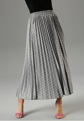 Aniston SELECTED Plisseerock, im Karo-Look - NEUE KOLLEKTION kaufen