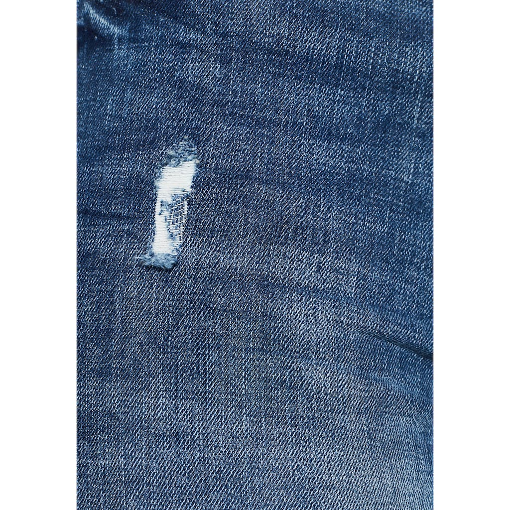 edc by Esprit Stretch-Jeans, mit modischen Used-Effekten