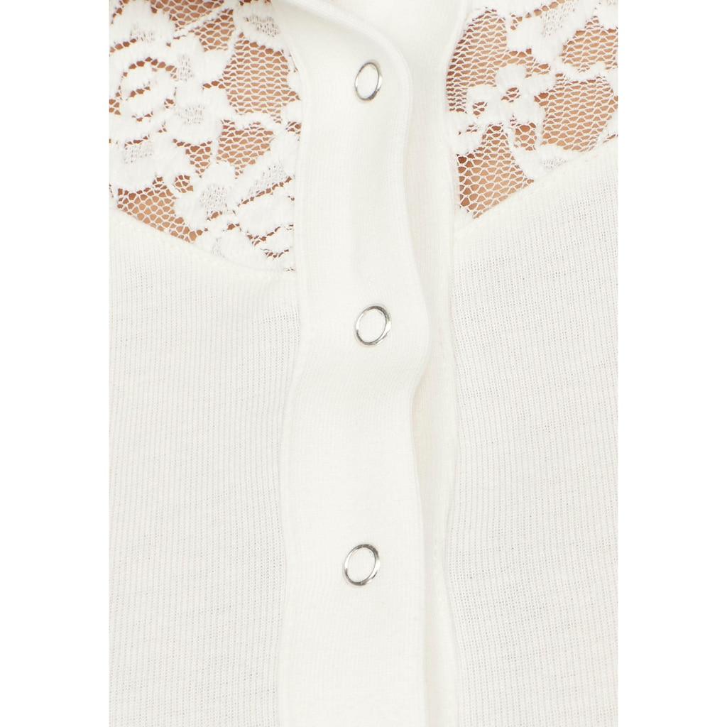 KangaROOS Kapuzenshirt, mit Spitzendetail