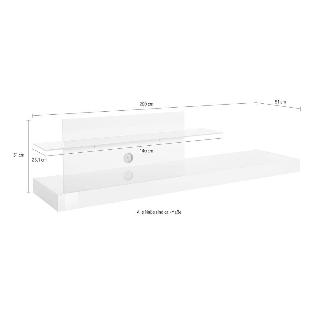 LC TV-Board »Cube«, mit Glasboden
