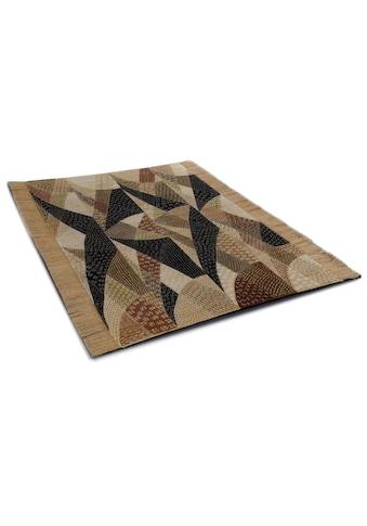 DIE HAUSKUNST Teppich »Chiya Tiama 4«, rechteckig, 4 mm Höhe, Flachgewebe, handgewebt,... kaufen