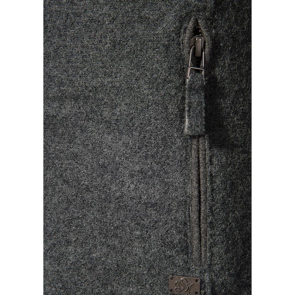 Spieth & Wensky Trachtenstrickjacke, mit Stehkragen