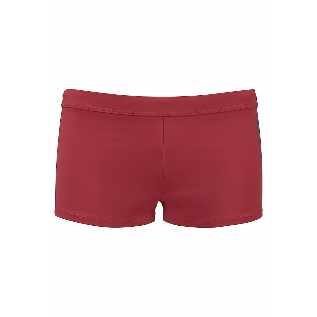s.Oliver Beachwear Boxer-Badehose, mit Logoschriftzug im coolen Used-Look