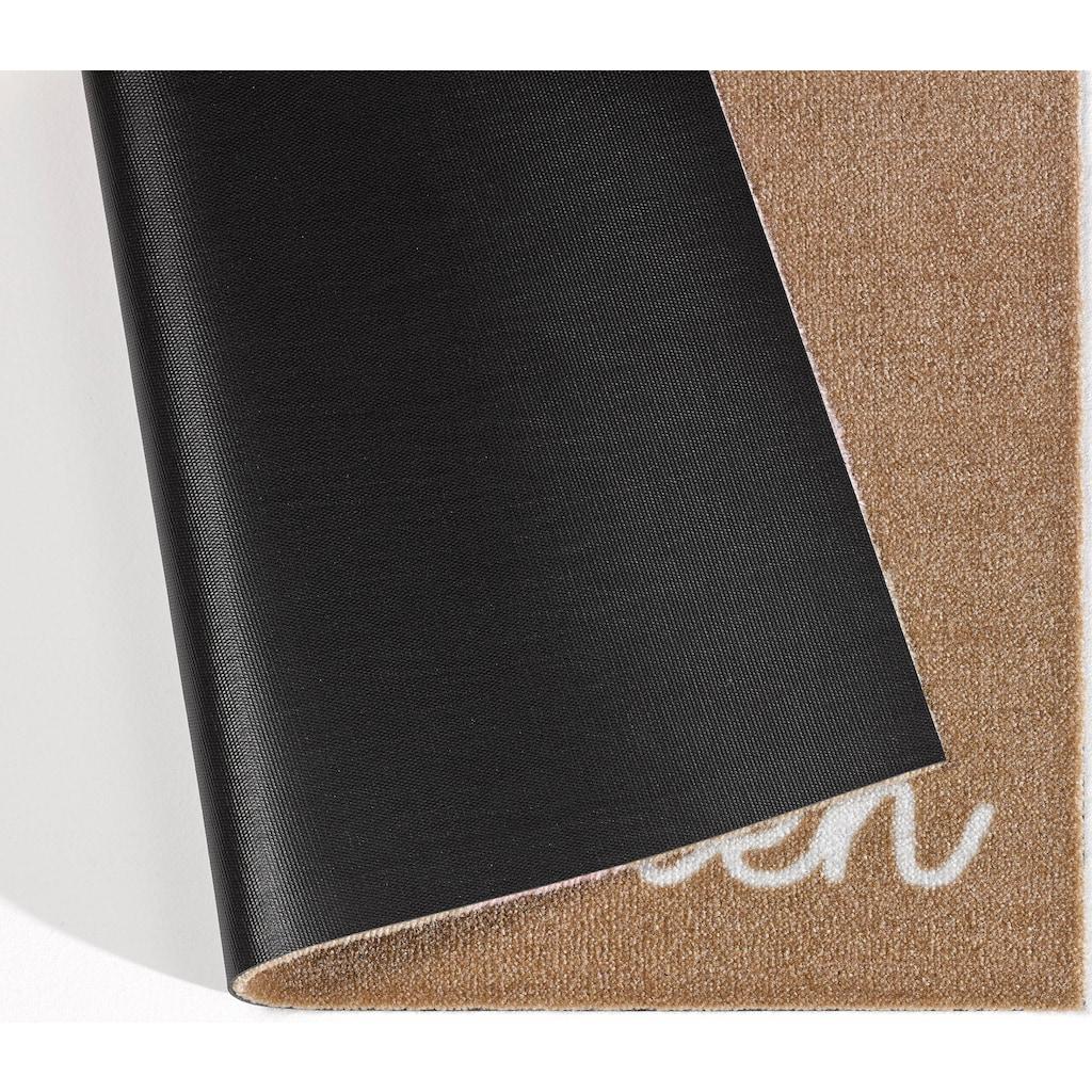 Zala Living Fussmatte »Willkommen Herz«, rechteckig, 7 mm Höhe, Schmutzfangmatte, mit Spruch, rutschhemmend beschichtet, waschbar