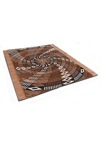 DIE HAUSKUNST Teppich »Funun Funun«, rechteckig, 4 mm Höhe, Flachgewebe, handgewebt,... kaufen