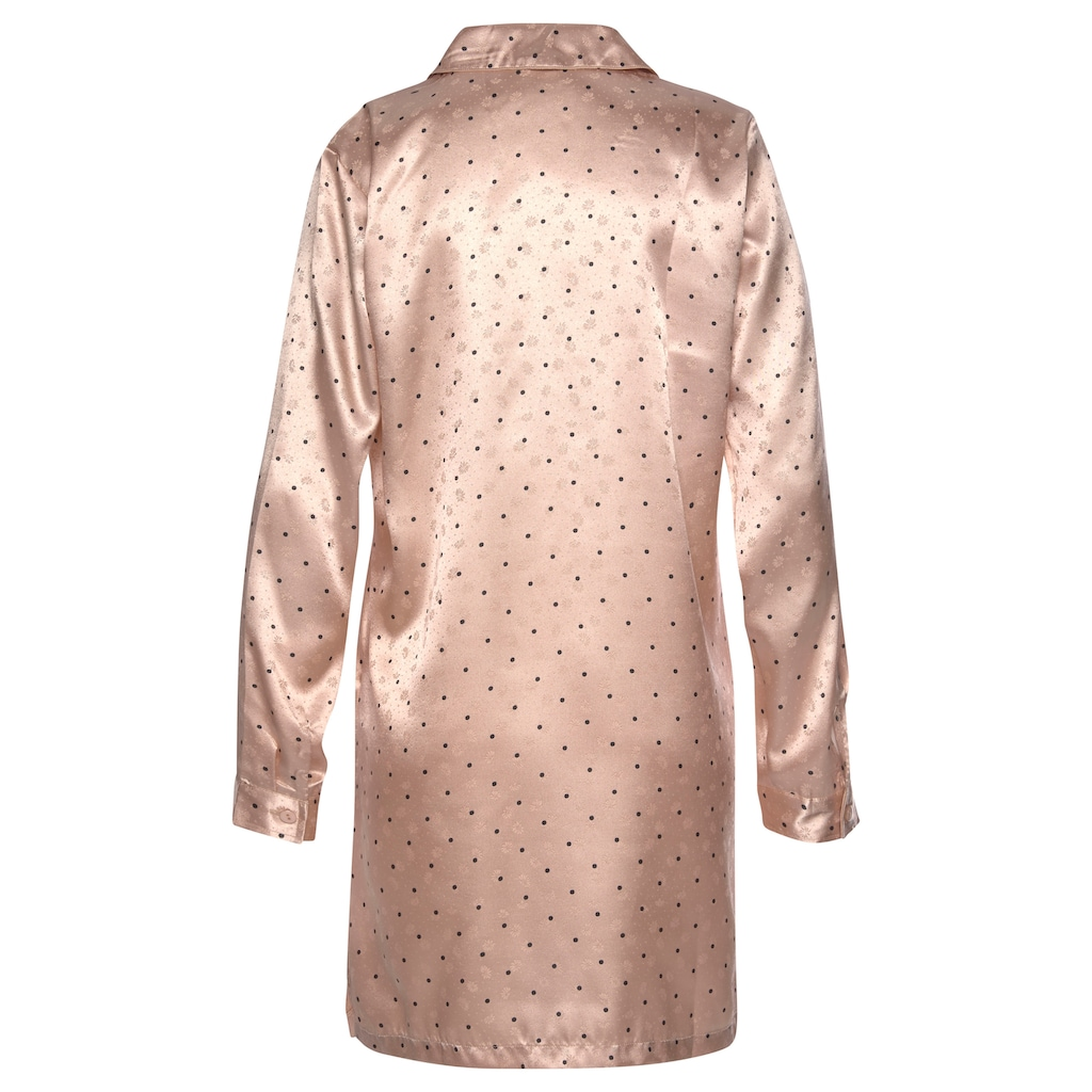 s.Oliver Bodywear Nachthemd, aus gemustertem Satin