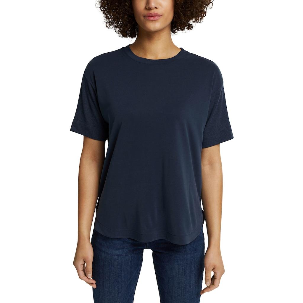 Esprit T-Shirt, mit Strick-Details