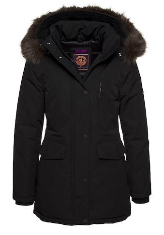 Superdry Winterjacke »EVEREST PARKA«, edler Parka mit Kunstfellkapuze kaufen