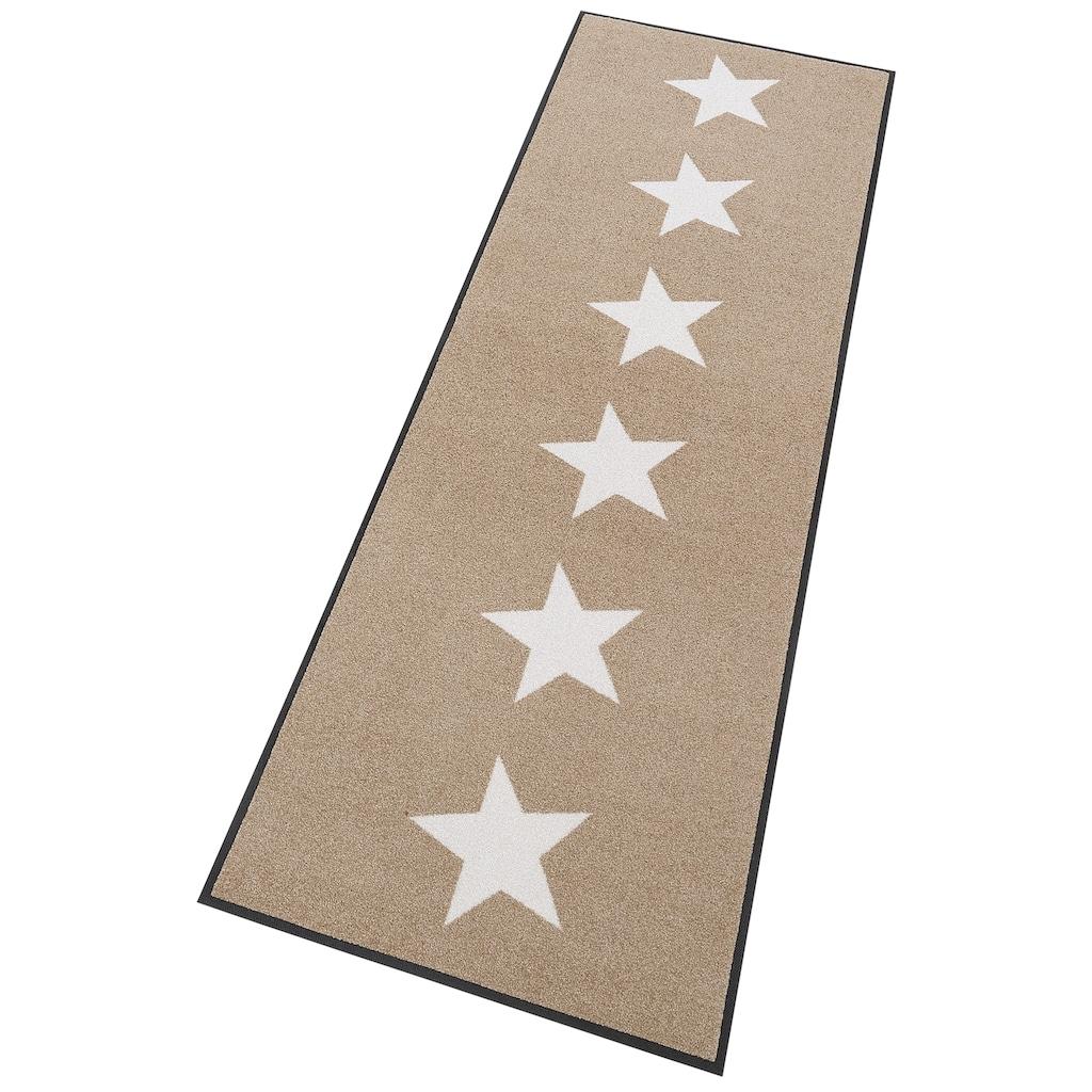 wash+dry by Kleen-Tex Läufer »Stars«, rechteckig, 7 mm Höhe, Schmutzfangläufer, In- und Outdoor geeignet, waschbar
