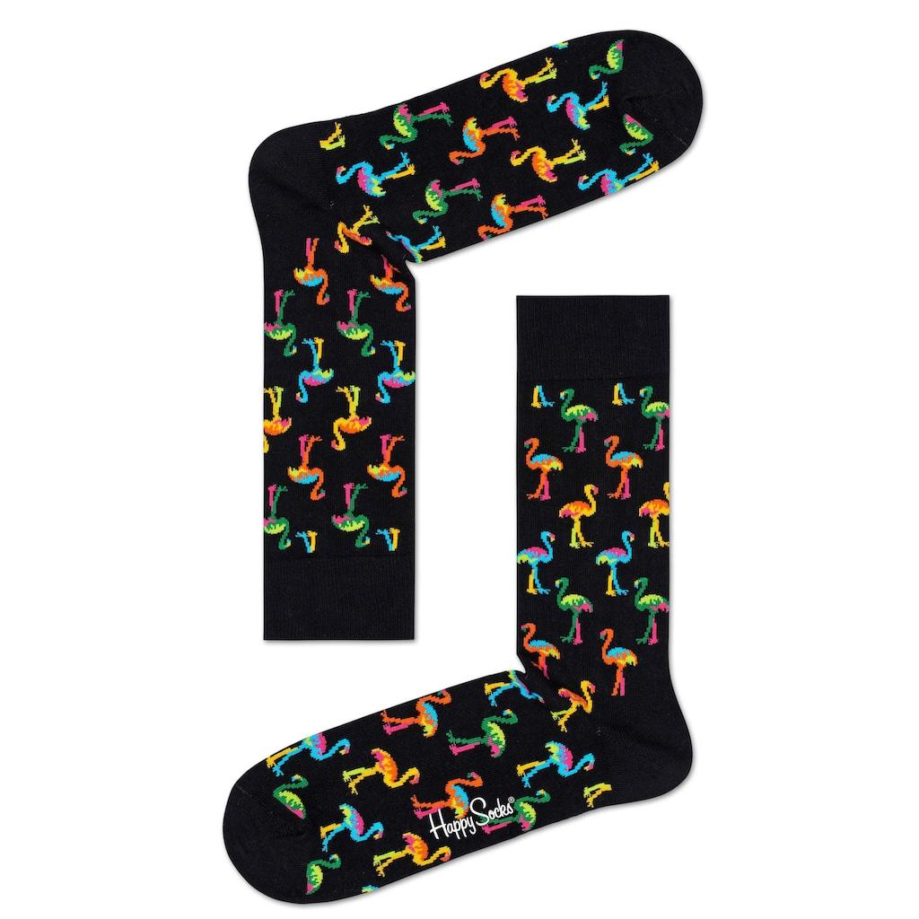 Happy Socks Socken, mit buntem Flamingomuster