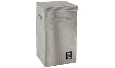 WENKO Wäschekorb »Cora Grau«, mit klappdeckel und Griffen, grau kaufen