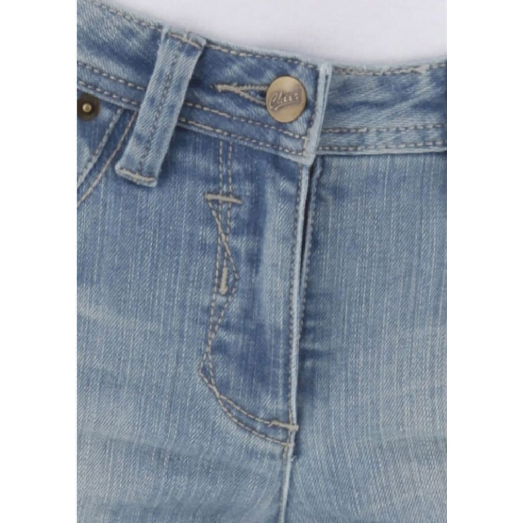 Aniston CASUAL Caprijeans, in Used-Waschung