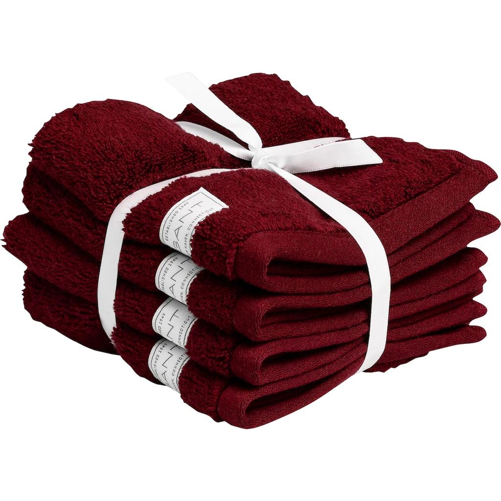 Gant Waschlappen »Organic Premium«, aus 100% Bio-Baumwolle