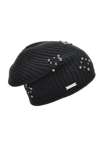Seeberger Strickmütze »lässige Mütze mit Perlen geschmückt 18591-0« kaufen