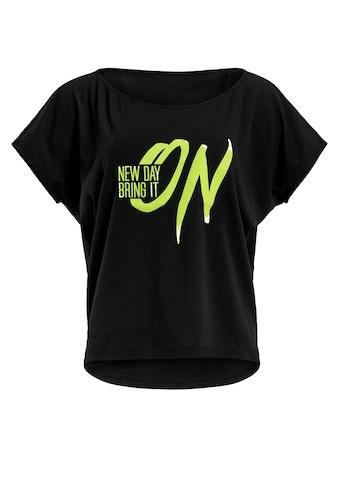 Winshape Oversize-Shirt »MCT002 ultra leicht«, mit Neon gelbem Glitzer-Aufdruck kaufen