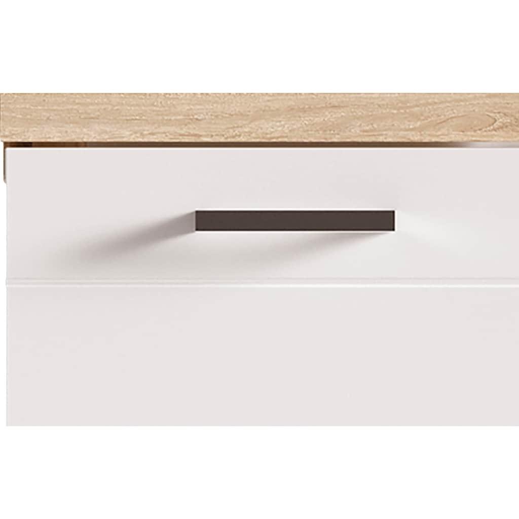 Homexperts Waschbeckenunterschrank »Nusa«, Breite 60 cm, mit Hochglanzlackierung und verchromten Metallgriffen