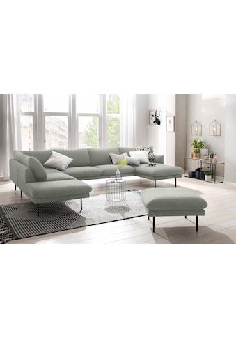 andas Wohnlandschaft »Mavis«, mit losen Sitz- und Rückenkissen, skandinavischer Stil kaufen
