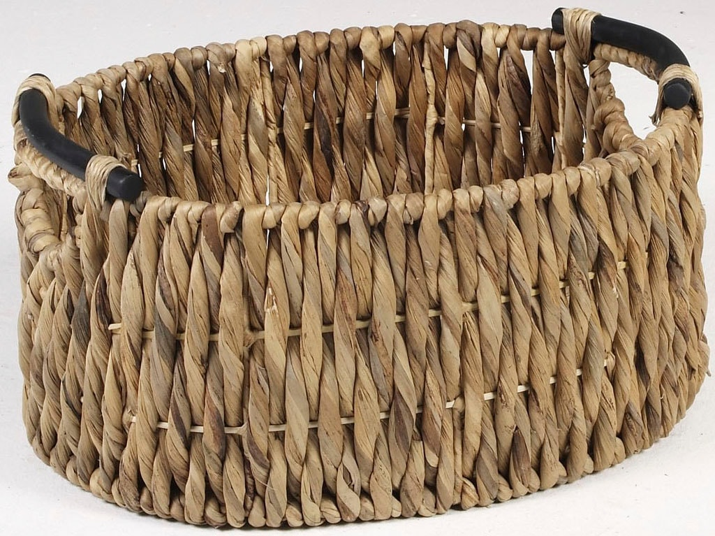 Image of ARTRA Aufbewahrungskorb »Aufbewahrungskörbe KEA M aus Wasserhyazinthe mit Holzgriff BSCI natur Ordnungshelfer«