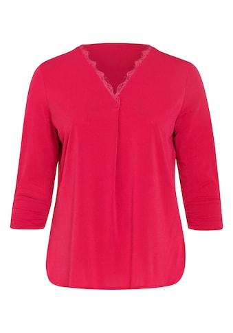 Paprika Spitzenshirt »mit breitem Rundhals« kaufen