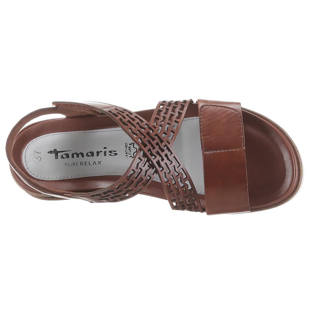 Tamaris Sandale »Pure Relax«, mit zwei Klettverschlüssen