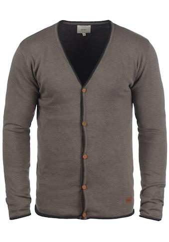 REDEFINED REBEL Cardigan »Maxen«, Strickjacke mit farblich abgesetzten Rollkanten kaufen