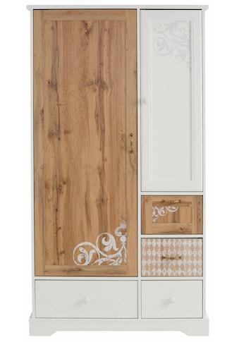 Home affaire Garderobenschrank »Ella«, 102 cm breit, dezent verziert/bedruckt mit Ranken und Ornamenten kaufen