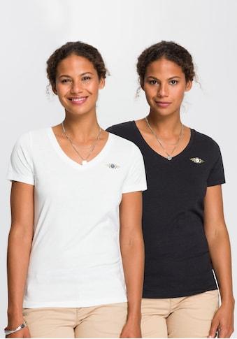 TOM TAILOR Polo Team T-Shirt, im farblich modischen Doppelpack kaufen