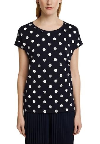 Esprit T-Shirt, mit schönem Punkte-Print kaufen