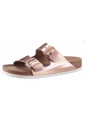 Birkenstock Pantolette »ARIZONA SFB«, in schmaler Schuhweite, Metallic-Optik, mit... kaufen